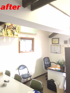事務所 漆喰 完成