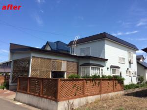 弘前、外壁、屋根塗装 施工例 完成
