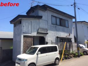弘前市住宅塗装施工例施工前