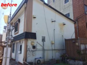 屋根、外壁塗装施工事例1施工前