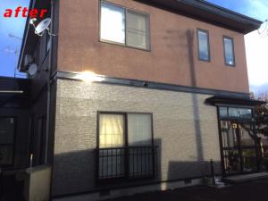 屋根、外壁塗り替え施工事例完成1